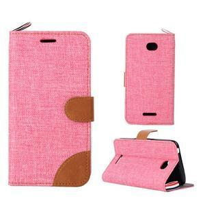 Jeans pouzdro na mobil Sony Xperia E4 - růžové - 1