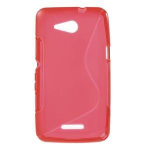 S-line gelový obal pro Sony Xperia E4g - červený - 1