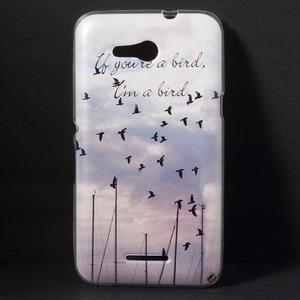 Gelový obal na Sony Xperia E4g - létající ptáčci - 1