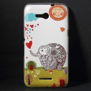 Gelový obal na Sony Xperia E4g - zamilovaný slon - 1