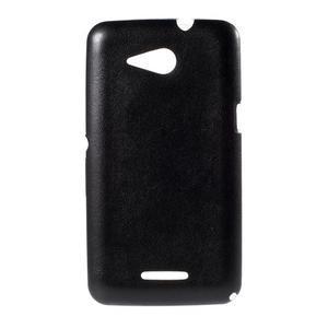 Gelový obal na Sony Xperia E4g s koženkovými zády - černý - 1