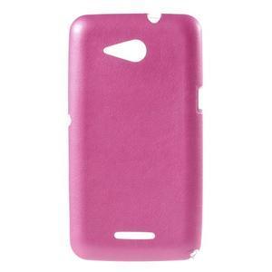 Gelový obal na Sony Xperia E4g s koženkovými zády - růžový - 1