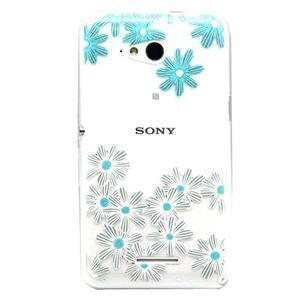 Vzorový gelový obal na Sony Xperia E4g - kytičky - 1