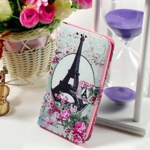 Peněženkové pouzdro na Sony Xperia E4g - Eiffelova věž - 1
