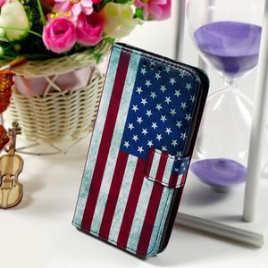 Peněženkové pouzdro na Sony Xperia E4g - USA vlajka - 1