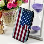 Peněženkové pouzdro na Sony Xperia E4g - USA vlajka - 1/7