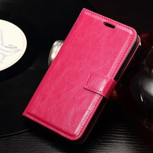 Horse PU kožené pouzdro na mobil Sony Xperia E4g - rose - 1