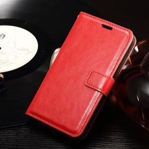 Horse PU kožené pouzdro na mobil Sony Xperia E4g - červené - 1