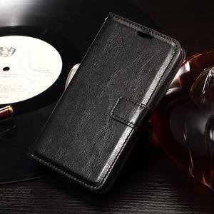 Horse PU kožené pouzdro na mobil Sony Xperia E4g - černé - 1