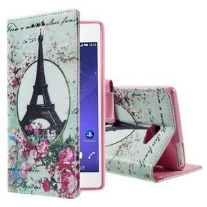 Standy peněženkové pouzdro Sony Xperia M2 Aqua - Eiffelova věž - 1