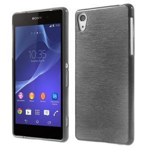 Broušený gelový obal na Sony Xperia Z2 - černý - 1