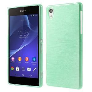 Broušený gelový obal na Sony Xperia Z2 - azurový - 1