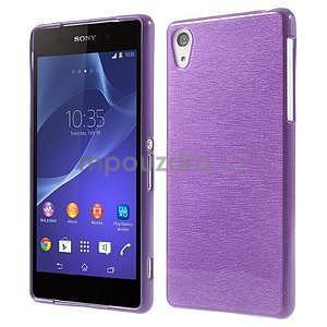 Broušený gelový obal na Sony Xperia Z2 - fialový - 1