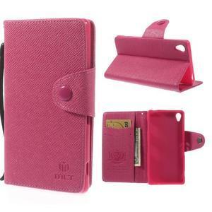 Rose peněženkové pouzdro na Sony Xperia Z3 - 1
