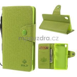 Zelené peněženkové pouzdro na Sony Xperia Z3 - 1