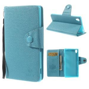 Tyrkysové peněženkové pouzdro na Sony Xperia Z3 - 1