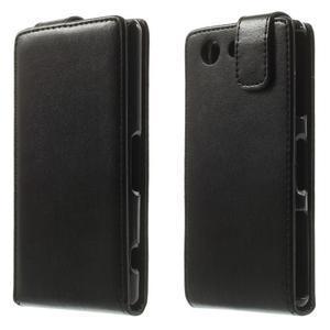 Černé flipové pouzdro na Sony Xperia Z3 Compact D5803 - 1