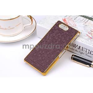 Elegantní kryt se zlatým lemem Sony Xperia Z3 Compact - fialový - 1