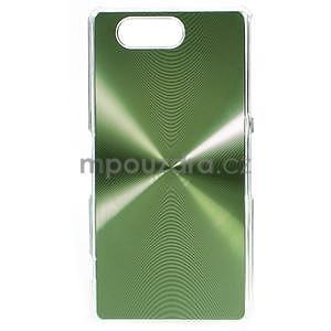Metalický kryt na Sony Xperia Z3 Compact - zelený - 1