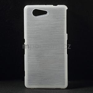 Broušený obal na Sony Xperia Z3 Compact D5803 - bílý - 1
