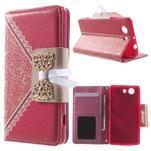 Zapinací pouzdro s mašličkou na Sony Xperia Z3 Compact - červené - 1/7