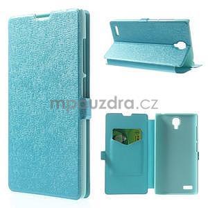 PU kožené pouzdro na Xiaomi Hongmi Note - světle modré - 1