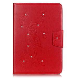 Butterfly PU kožené pouzdro na Samsung Galaxy Tab A 9.7 - červené - 1