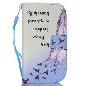 Knížkové PU kožené pouzdro na Samsung Galaxy S3 mini - ptáčci - 1