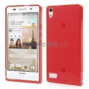Gelové pouzdro na Huawei Ascend P6 - červené - 1