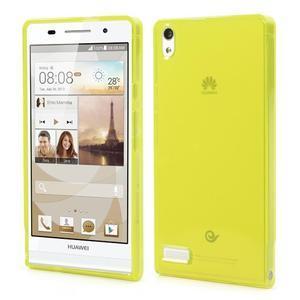 Gelové pouzdro na Huawei Ascend P6 - žluté - 1