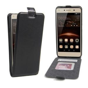 Flipové PU kožené pouzdro na Huawei Y5 II - černé - 1