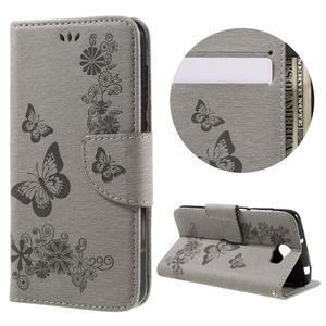 Butterfly PU kožené pouzdro na mobil Huawei Y5 II - šedé - 1