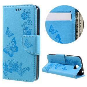 Butterfly PU kožené pouzdro na mobil Huawei Y5 II - světlemodré - 1