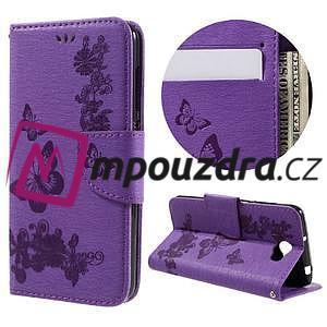 Butterfly PU kožené pouzdro na mobil Huawei Y5 II - fialové - 1