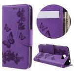 Butterfly PU kožené pouzdro na mobil Huawei Y5 II - fialové - 1/7