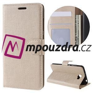 Clothy peněženkové pouzdro na Huawei Y5 II - zlaté - 1