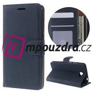 Clothy peněženkové pouzdro na Huawei Y5 II - tmavěmodré - 1
