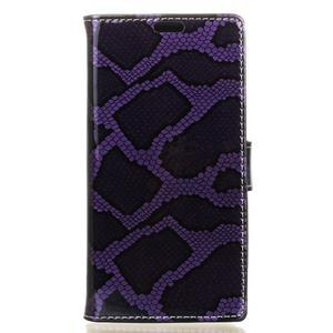 Pouzdro s hadím motivem na mobil Huawei Y5 II - fialové - 1