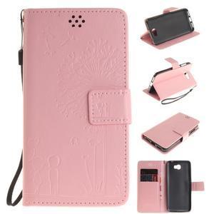 Dandelion PU kožené pouzdro na Huawei Y5 II - růžové - 1