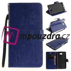 Dandelion PU kožené pouzdro na Huawei Y5 II - modré - 1