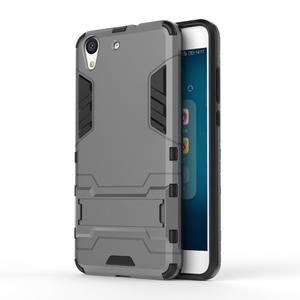 Outdoor odolný obal na mobil Huawei Y6 II a Honor 5A - šedý - 1