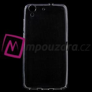 Ultratenký gelový obal na mobil Huawei Y6 II a Honor 5A - transparentní - 1