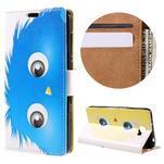 Emotive peněženkové pouzdro na Huawei Y6 II Compact - modrá příšera - 1/7