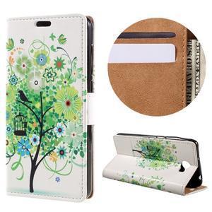 Emotive peněženkové pouzdro na Huawei Y6 II Compact - zelený strom - 1