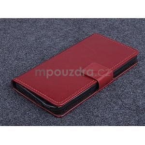 Hnědé PU kožené peněženkové pouzdro na Huawei Ascend G620s - 1