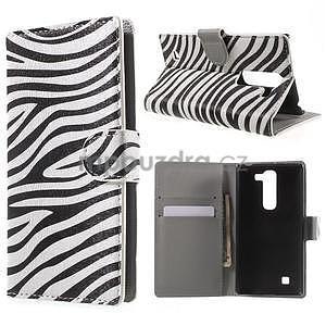 Pěněženkové pouzdro na LG G4c H525n - zebra - 1