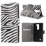 Pěněženkové pouzdro na LG G4c H525n - zebra - 1/7