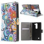 Pěněženkové pouzdro na LG G4c H525n - barevné květiny - 1/7