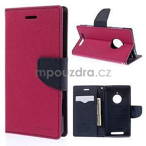 PU kožené peněženkové pouzdro na Nokia Lumia 830 - rose - 1