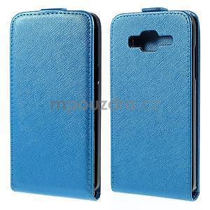 Flipové pouzdro na Samsung Galaxy J5 - modré - 1